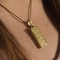 Textured Cremation Jewelry-14K Gold Plated Finish