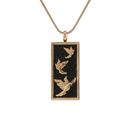 Embossed Doves Cremation Jewelry-Rose Gold Finish