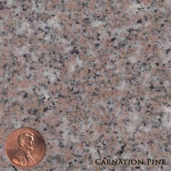 HS02 Legacy Memorials 9 Colors 3 Sizes - (Die): 2-6 x 0-6 x 1-10 (Base) 3-6 x 1-0 x 0-6 / Carnation Pink - Upright Granite Memorials