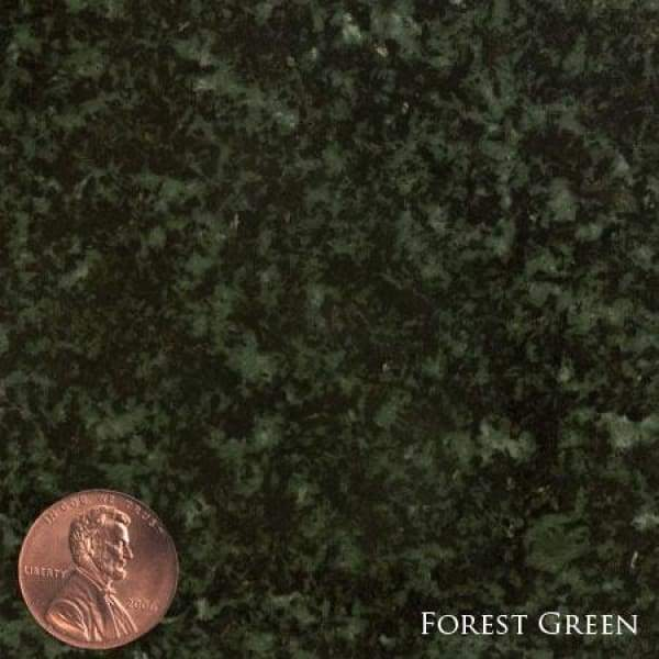 HS02 Legacy Memorials 9 Colors 3 Sizes - (Die): 2-6 x 0-6 x 1-10 (Base) 3-6 x 1-0 x 0-6 / Forrest Green - Upright Granite Memorials