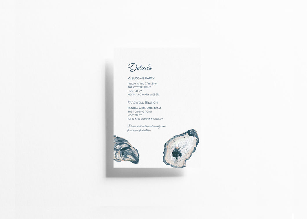 Blushing Tide Details Card