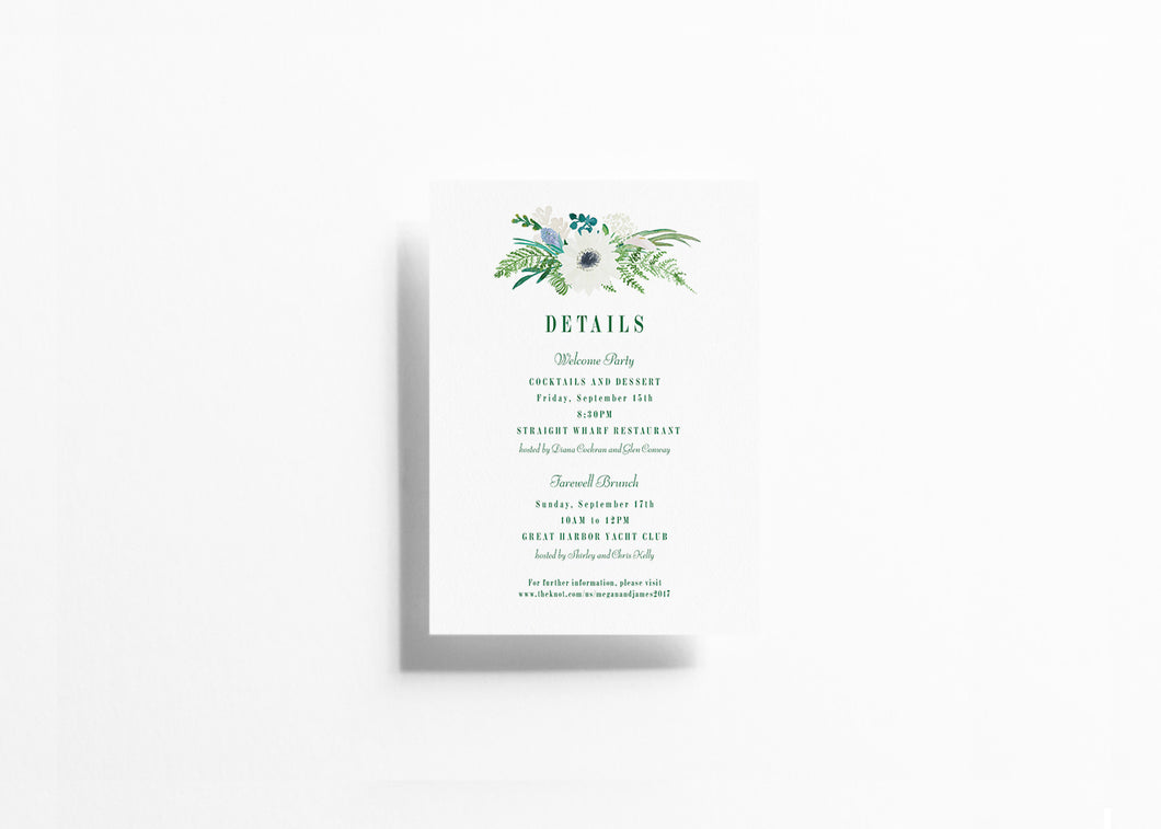 Botanical Bliss Details Card