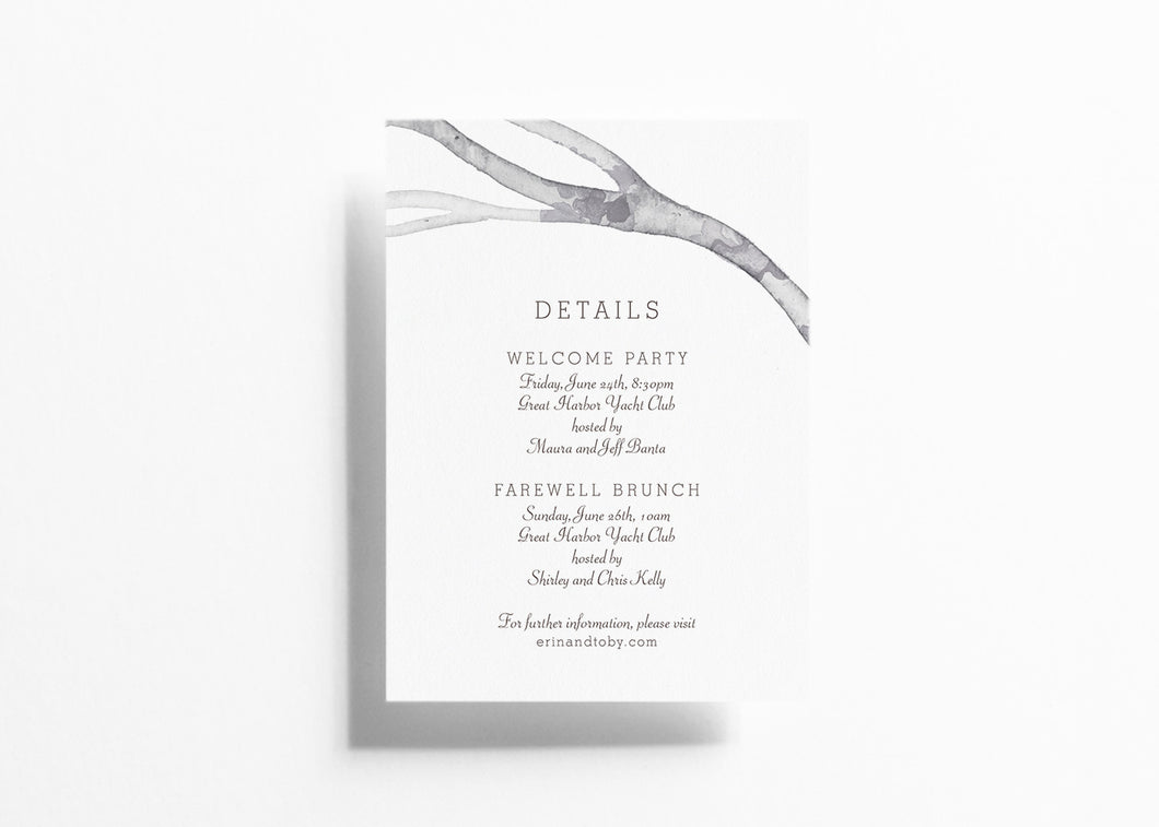 Canopy Faire Details Card