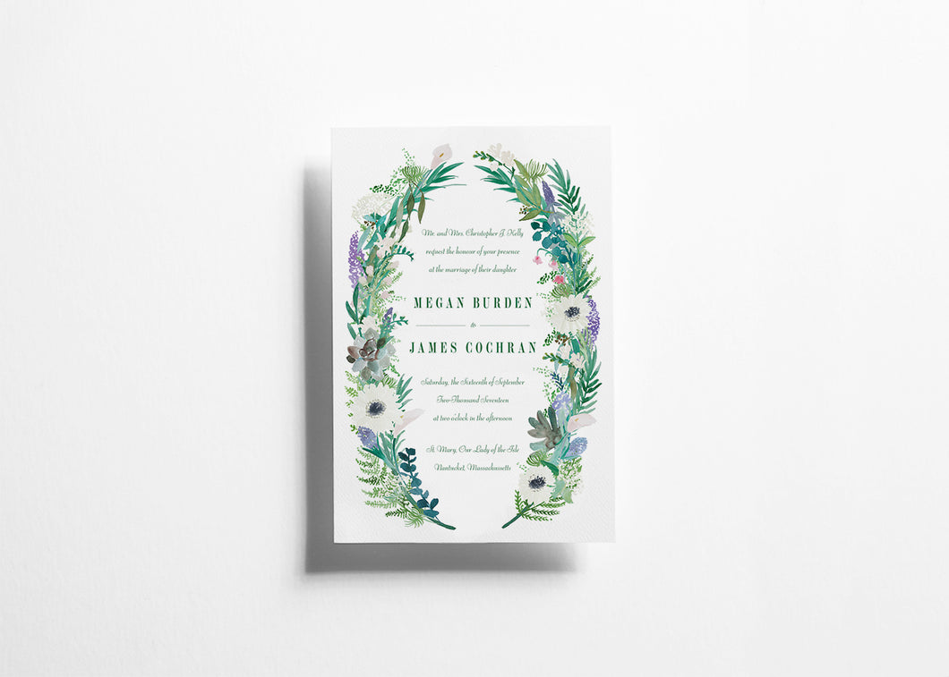 Botanical Bliss Wedding invitation