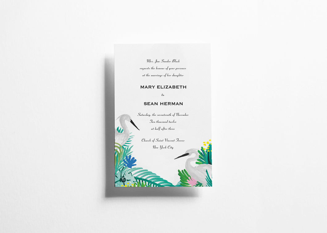 Wander Lush Wedding invitation