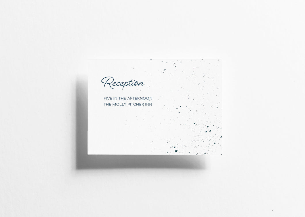 Blushing Tide Reception Card