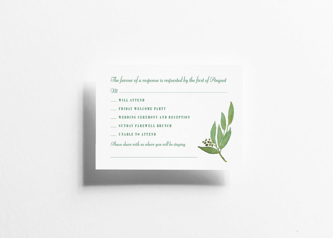 Botanical Bliss RSVP Card