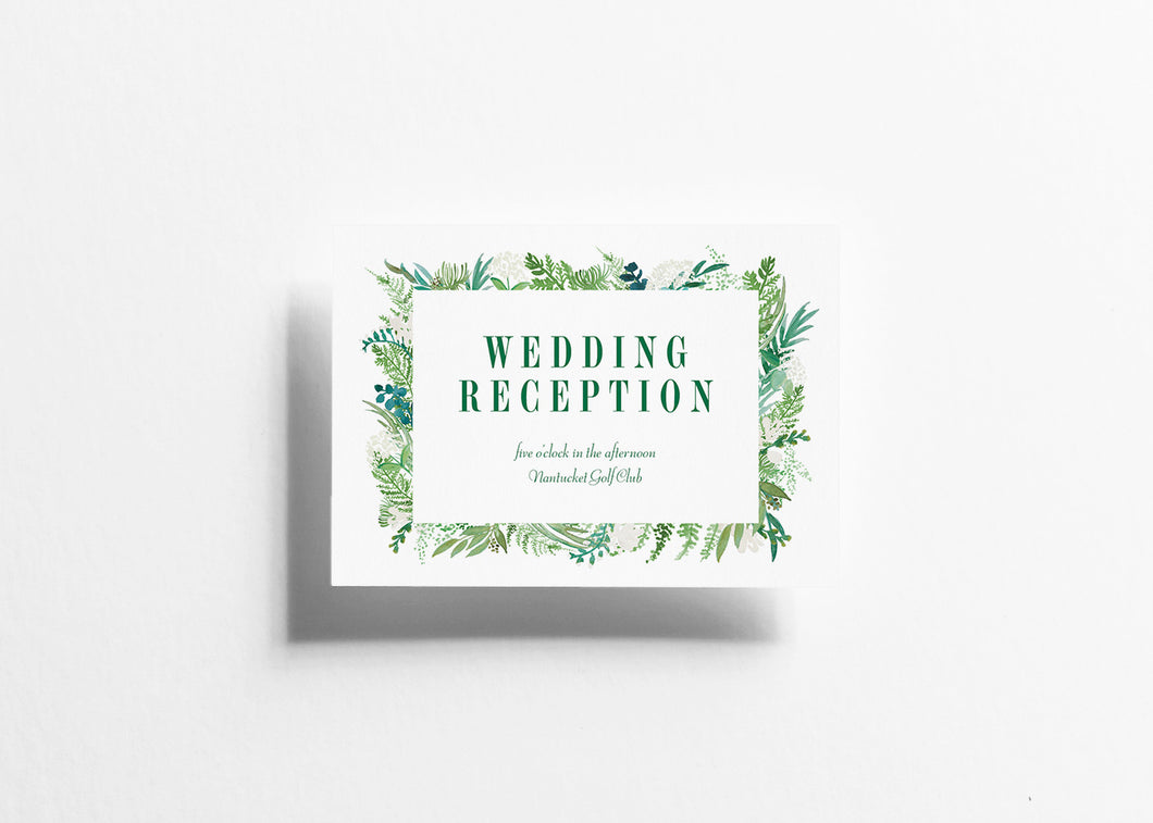 Botanical Bliss Reception Card