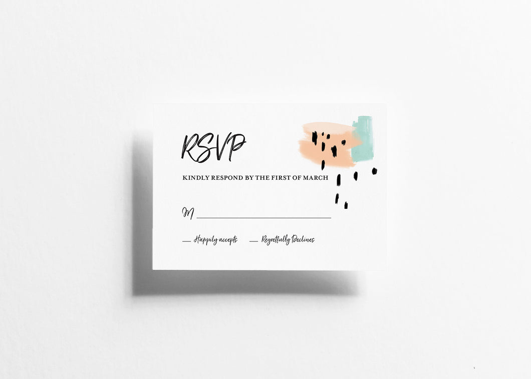 Modern Musings RSVP Card