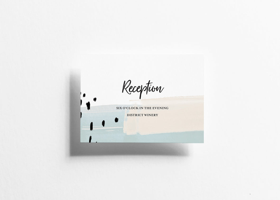 Modern Musings Reception Card