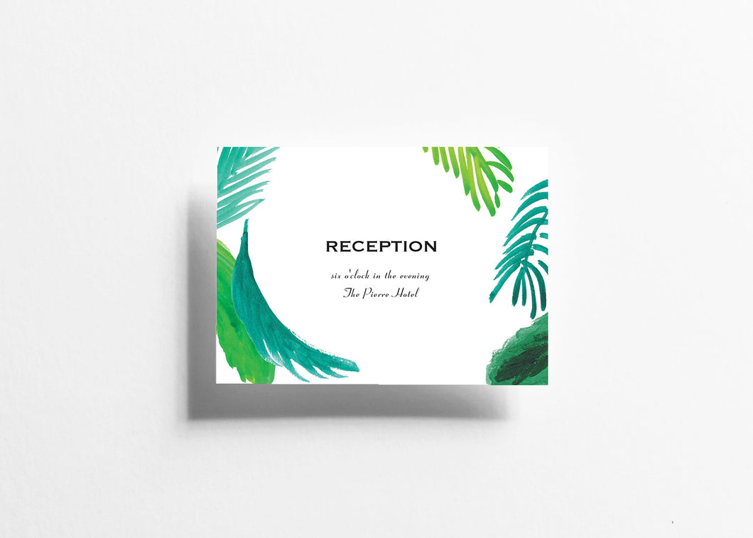 Wander Lush Reception Card