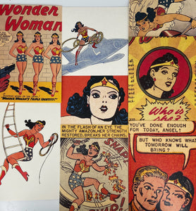 Wonder Woman Gift Postcard with Personalized Note