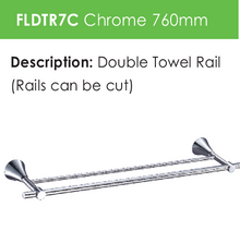 Load image into Gallery viewer, Perennial Double Towel Rail  (FLDTR7C)
