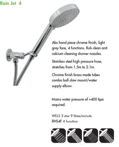 Rain Jet 4 Hand Shower Kit (RHS4F)