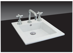 Linear Flat Inset Basin With 3TH