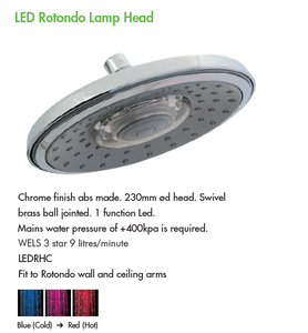 LED Rotondo Lamp Shower Head (LEDRHC)