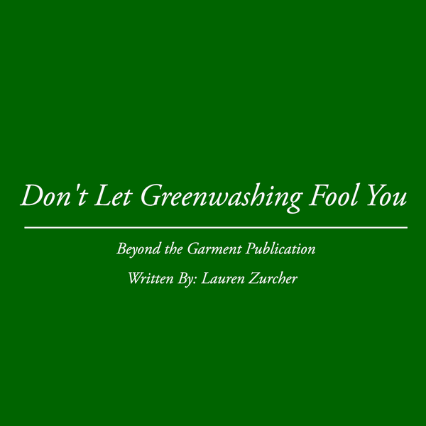 Don't Let Greenwashing Fool You