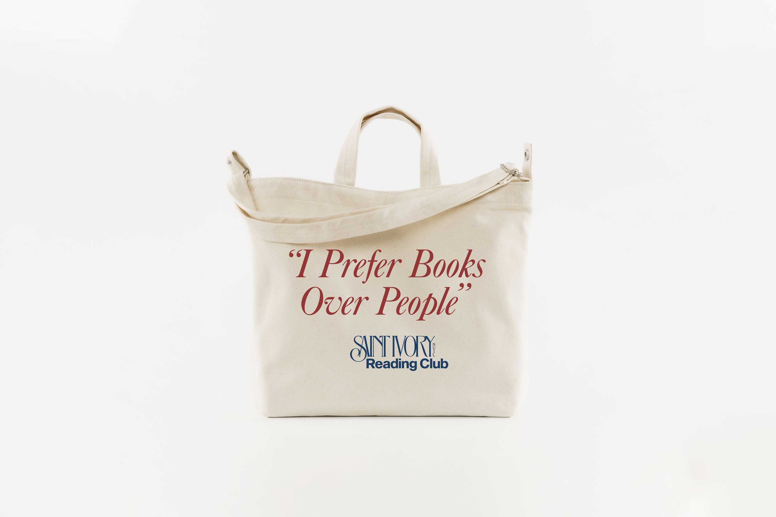 Saint Ivory Reading Club Tote Bag