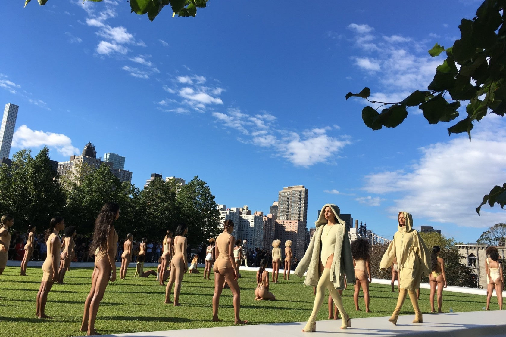 Yeezy Spring 2017 Fashion Show on Roosevelt Island, New York City