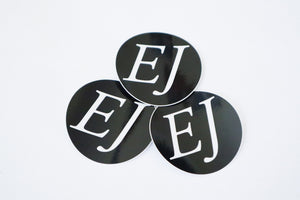 Black EJ Sticker