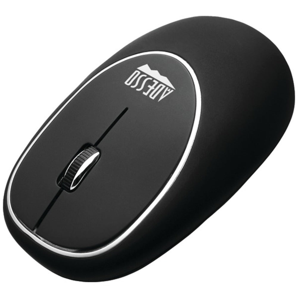 Adesso IMOUSE E60B iMouse E60 Wireless Antistress Gel Mouse (Black)