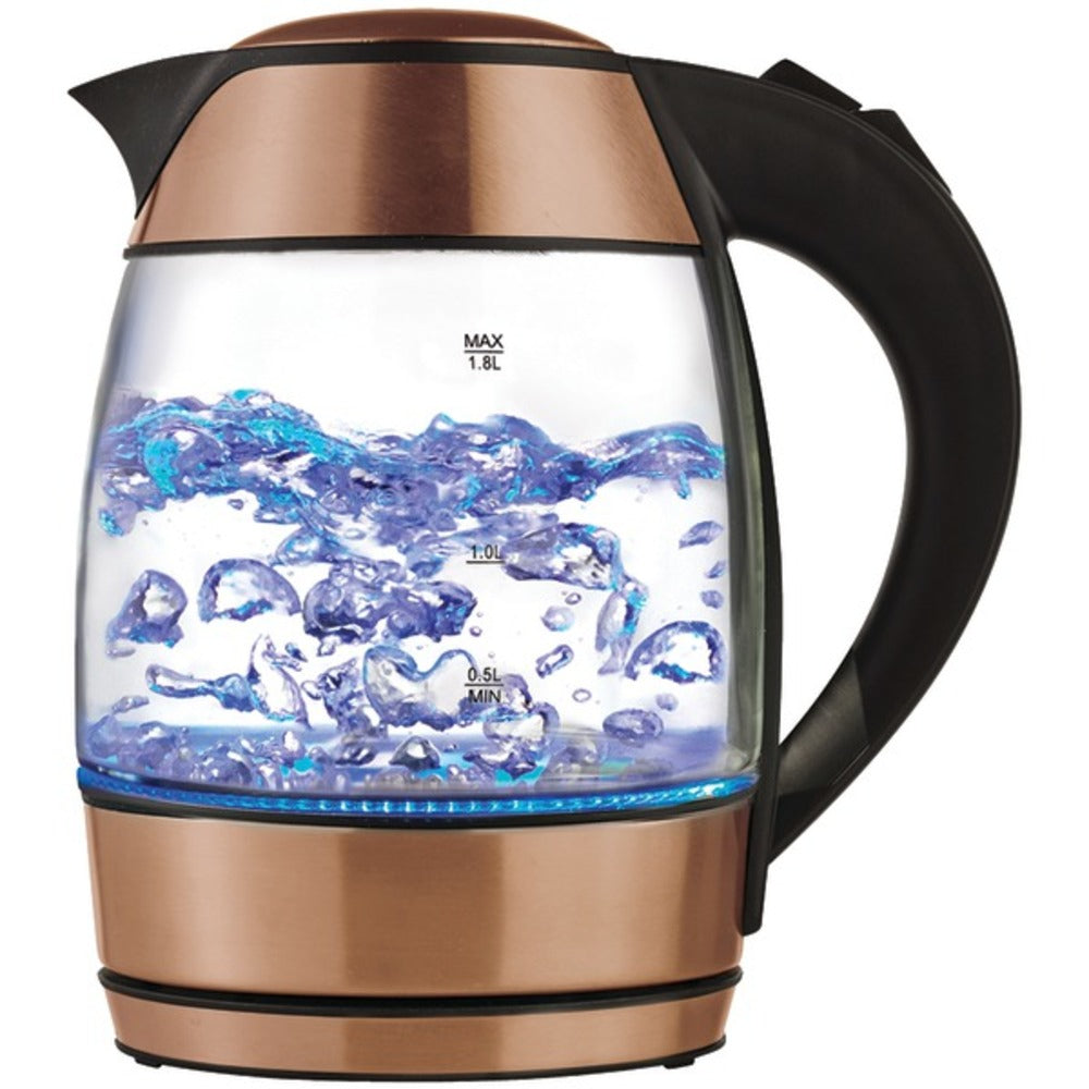 Brentwood Appliances KT-1960RG 1.8-Liter Cordless Glass Electric Kettle with Tea Infuser (Rose Gold)