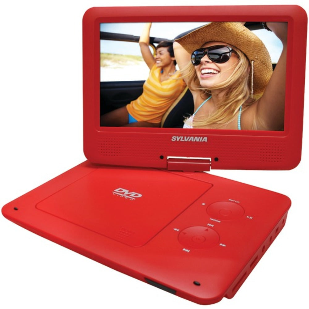 "SYLVANIA SDVD9020B-RED 9"" Portable DVD Player with 5-Hour Battery (Red)"