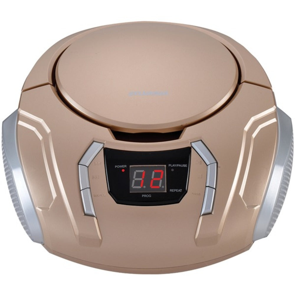 SYLVANIA SRCD261-B-CHAMPAGNE Portable CD Player with AM/FM Radio (Champagne)