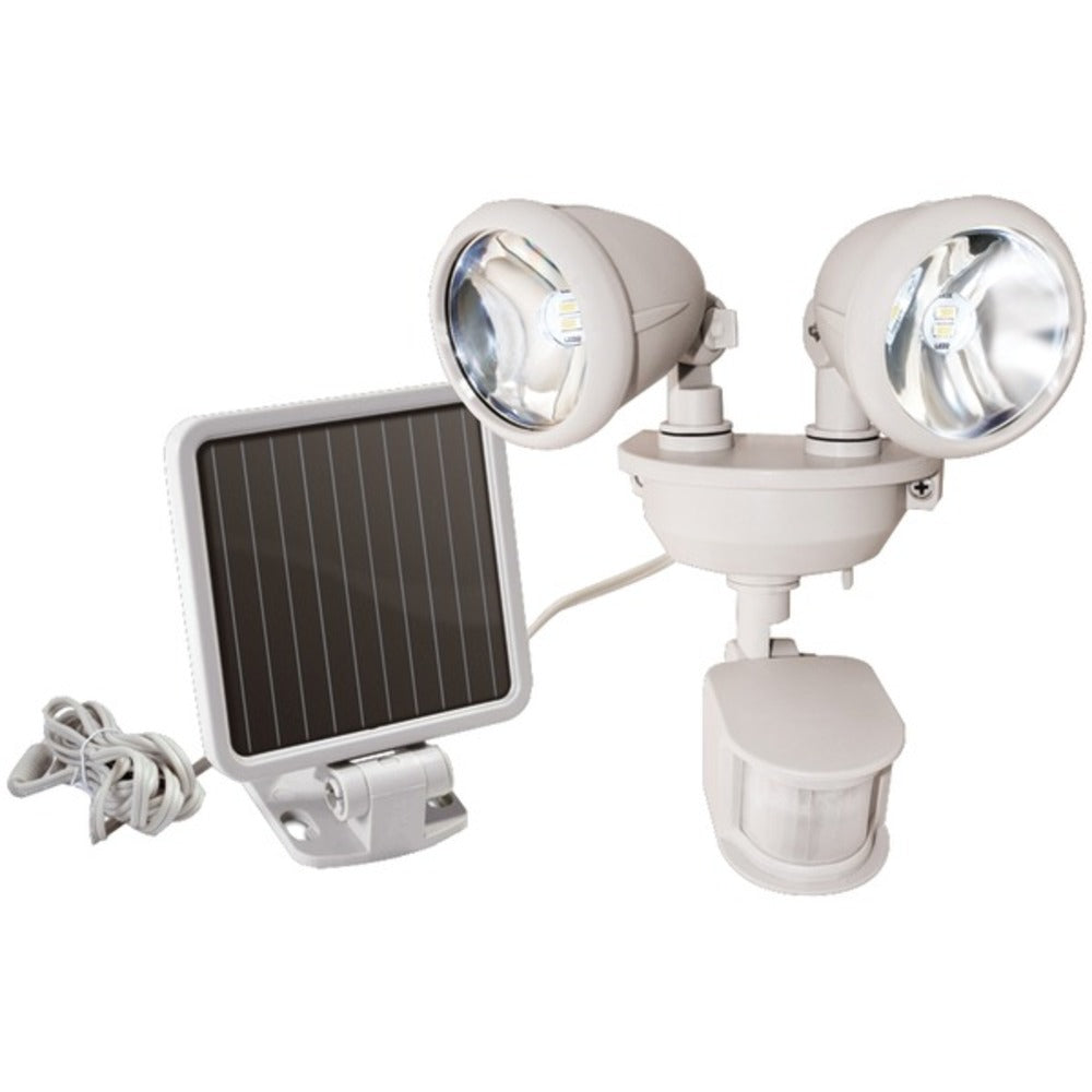 MAXSA Innovations 44218 Dual-Head Solar Spotlight (Off White)