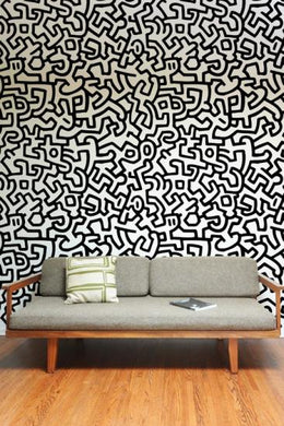 Pattern Wall Tiles Black