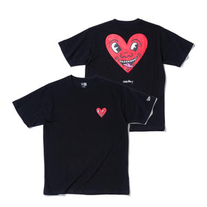 Keith Haring×NEW ERA Heart T-shirt Black