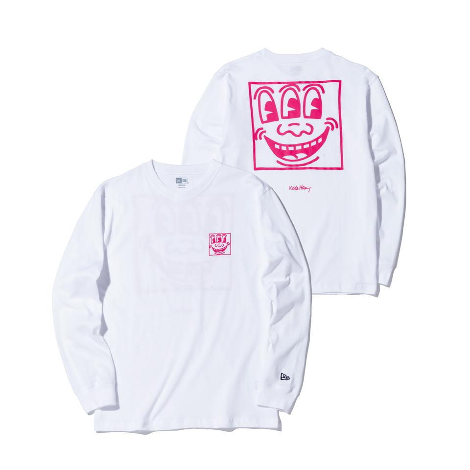Keith Haring×NEW ERA Face Long Sleeve T-shirt White