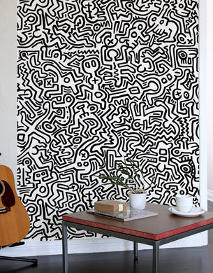 Wall Tiles Movement Black/White