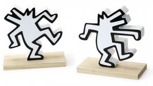 Keith Haring Dancing Dog Bookend