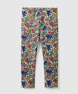 Benetton Keith Haring Kids Leggings pants Multi Color