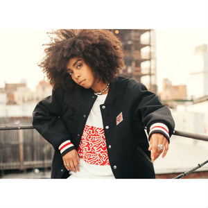 Element ×Keith Haring Letterman Jacket