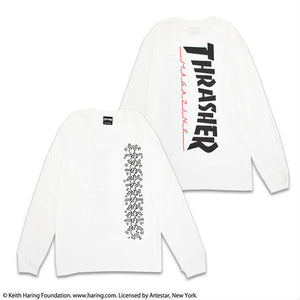 Keith Haring × Thrasher Long Sleeve Tee LT19