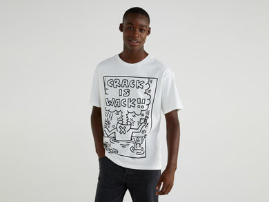 Benetton Keith Haring T-shirt Crack Is Wack! White