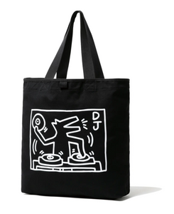 NEW ERA x Keith Haring Tote Bag Dj Dog Black