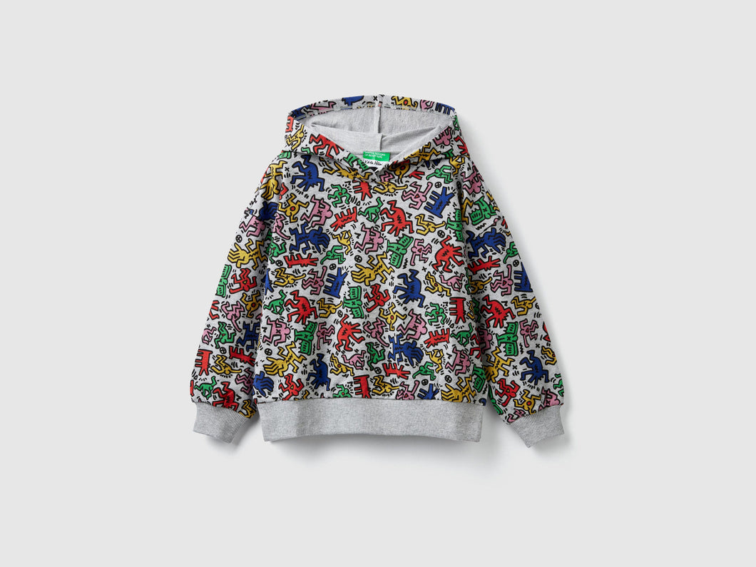 Benetton Keith Haring Kids Sweat-shirt Mulch Color