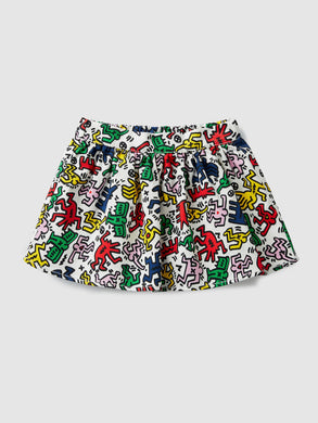 Benetton Keith Haring Kids Skirt Multi Color