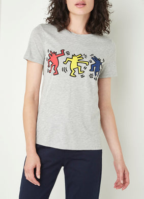 Benetton Keith Haring T-shirt Dancer Dog Gray