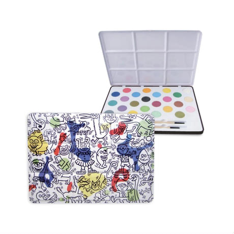 Keith Haring Watercolor Painting Set