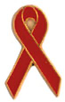 Red Ribbon Pin