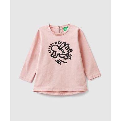 Benetton Keith Haring Kids (Mini) Long Sleeve Angel Pink