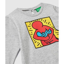 画像をギャラリービューアに読み込む, Benetton Keith Haring Kids (Mini) Long Sleeve Hug Baby Gray