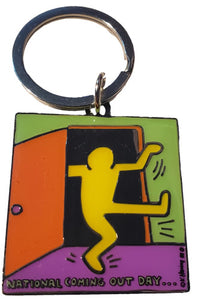 National Coming Out Day Metal Key Ring