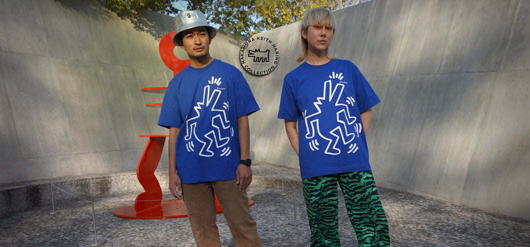 Études T-shirt Wonder Keith Haring BLUE E16S-445-KH1