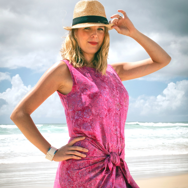Hot Pink Sarong Dress