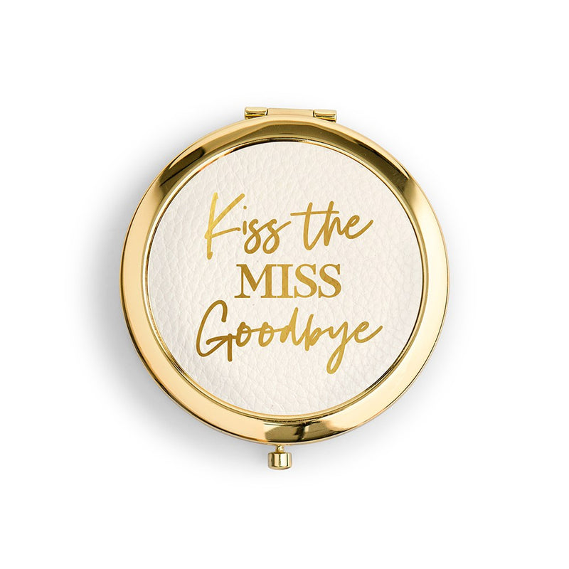 Kiss the Miss Goodbye Vegan Leather Compact Mirror